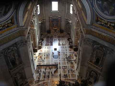 Вид с галереи под куполом собора Св. Петра