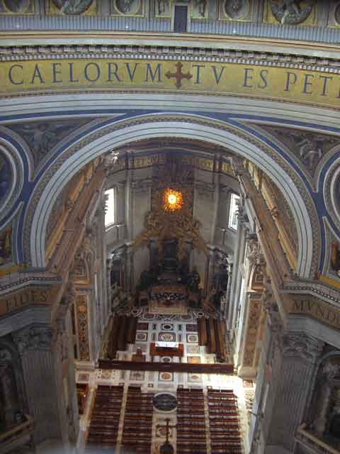 Вид на кафедру св.Петра с галереи