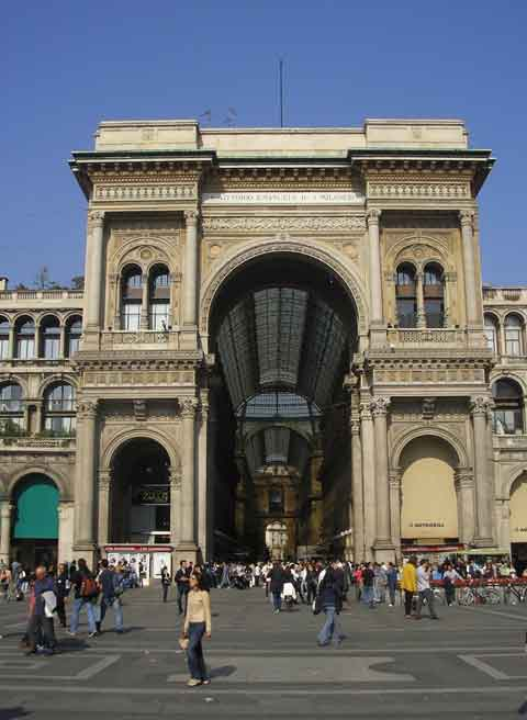 Вход в Галерею Vittorio Emanuele II